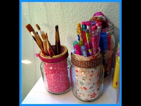 DIY craft jar ! Cute jars for storage! Cheap and Easy craft jars!