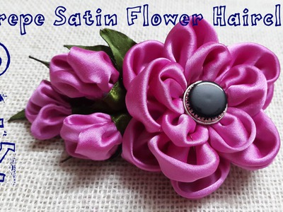 D.I.Y. Crepe Satin Flower Hairclip Tutorial