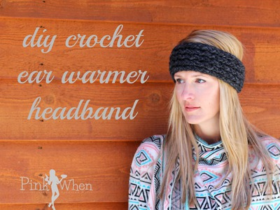 DIY: Crochet Ear Warmer Headband - Under an Hour - with Loom Knitting Video Tutorial