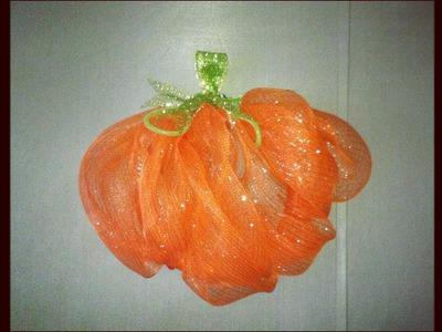 DIY: Deco Mesh Pumpkin ~ Easy Fall Craft Wreath