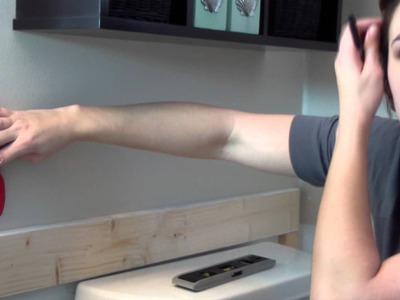 DIY: Easy Batten Board Walls, Board and Batten Technique. Tutorial, wall trim