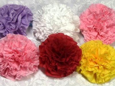 DIY  Easy Paper Flowers, Tutorial, DIY, How to do Decoration