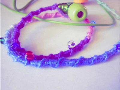 DIY:Embroidery Floss Earphones (no tangle & awesome looking)