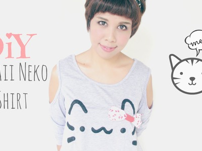 DIY Fashion: Kawaii Pusheen Cat.Neko T-Shirt Tutorial
