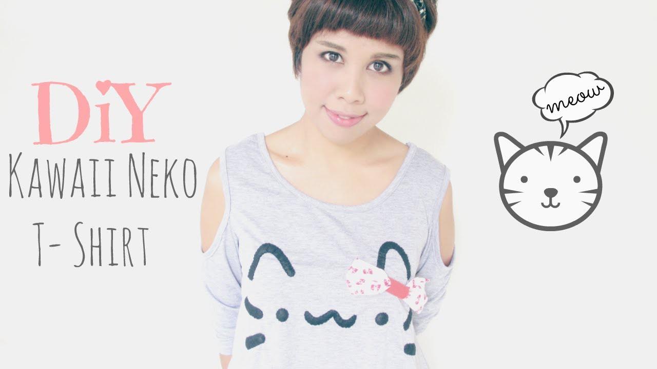 DIY Fashion: Kawaii Pusheen Cat.Neko T-Shirt Tutorial