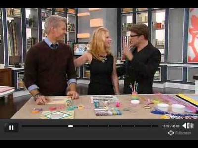 DIY for Teens, Paper Tape craft and Rock Star Bracelets on S+C Show