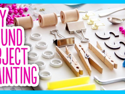 DIY Found Object Painting - Rejected Craft Supply Craft Challenge with SeaLemon