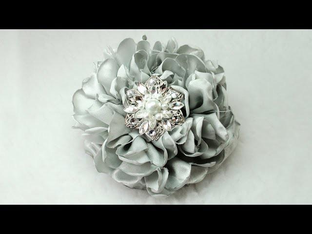 "DIY Gorgeous 6"" Fabric Flower, Tutorial, DIY, How to do"