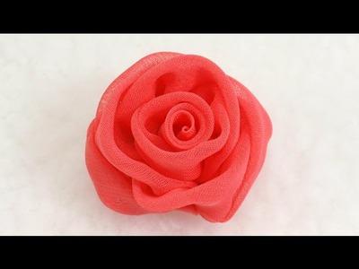 DIY How to make Chiffon Rose, Tutorial, DIY, Chiffon Rose Bud