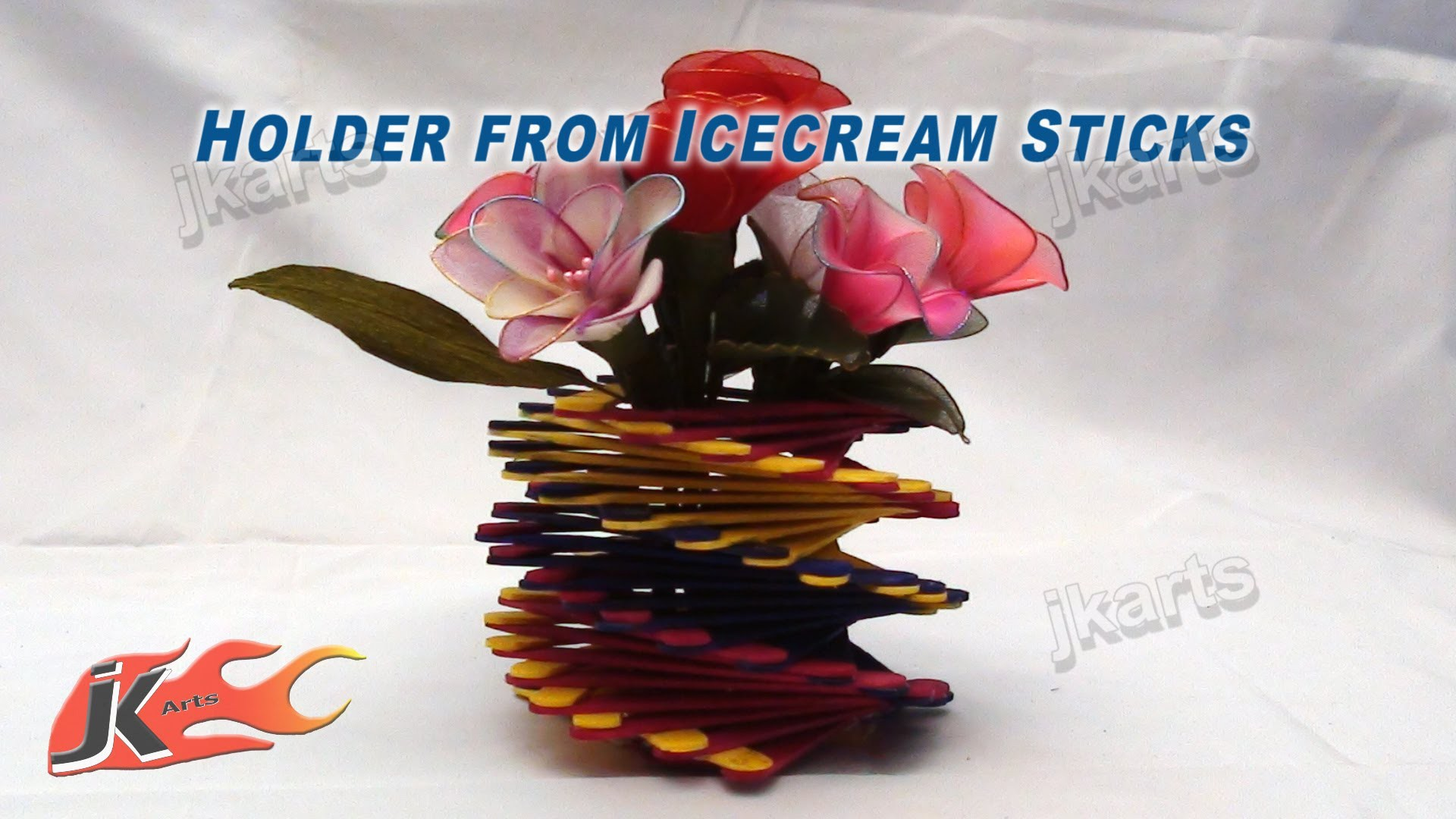 DIY How to make Holder from Ice Cream Stick. Popsicle Sticks - JK Arts 145