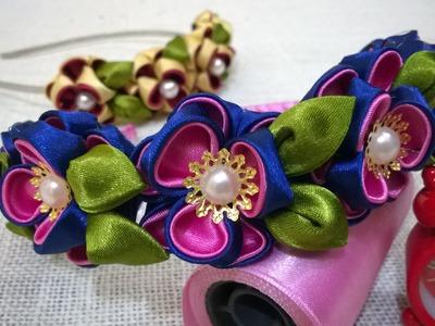 D.I.Y. Kanzashi Flower Headband Tutorial