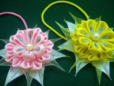 D.I.Y. Kanzashi Flower - Tutorial