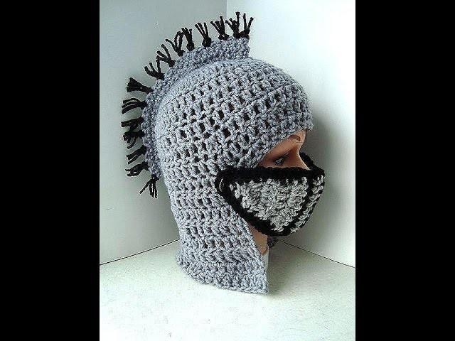 DIY knights helmet hat free crochet pattern, King Arthurs Court ...