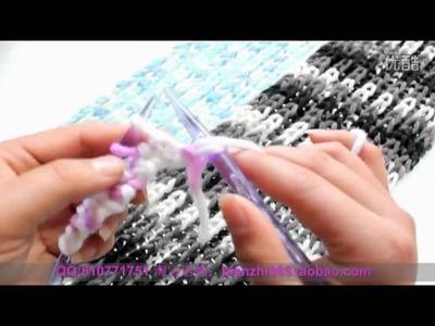 DIY lover valentine's day 編織 織冷衫 教學 頸巾 課程      高低針 情侶巾  Woolen knit knitting