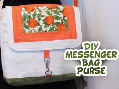 DIY Messenger Style Purse Tutorial - Whitney Sews