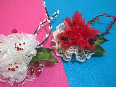 D.I.Y. Organza & Lace Flower - Tutorial