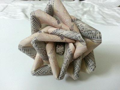 DIY-origami money rose flower