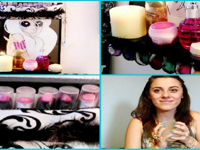 DIY  Projects: Makeup Organizer From A Picture Frame. Mirror!! | LikeWowLala