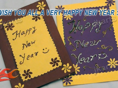 DIY Punch Craft New year Greeting Card (School Project for Kids) - JK Arts 116