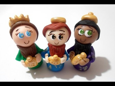 DIY REYES MAGOS Tutorial - Nacimiento Navideño - cold porcelain arts crafts