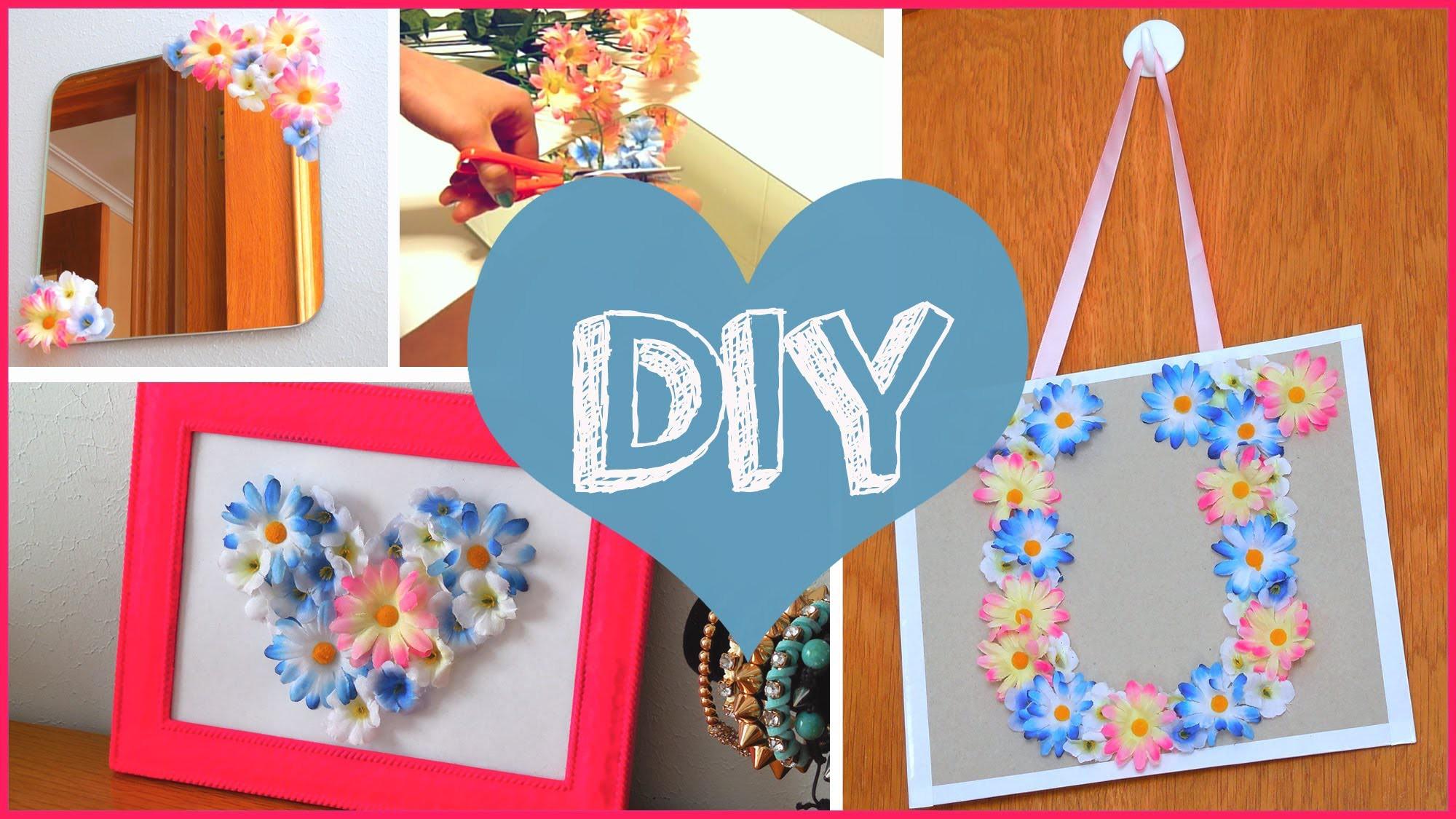 Cute Diy Home Decor Ideas: DIY ROOM DECOR Cheap & Cute Projects Using Fake Flowers