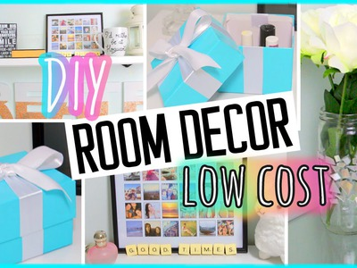 DIY ROOM DECOR! Low cost projects & recycling ideas!