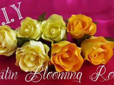 D.I.Y. Satin Blooming Rose Tutorial
