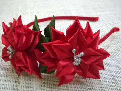 D.I.Y. Satin Ribbon Flower Headband - Tutorial