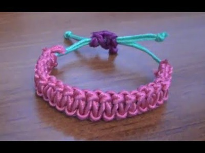 DIY Stackable Bracelets: Square Knot (Cobra Stitch) Friendship Bracelet Tutorial