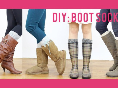 DIY Tutorial: Boot Socks | Miss Louie