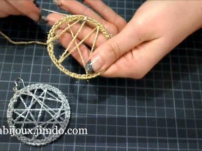 DIY - tutorial orecchino a cerchio uncinetto argento -oro gioielli fai da te facile e semplice