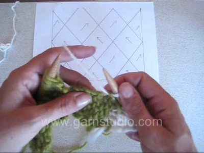DROPS Knitting Tutorial: How to entrelac - on straight needles