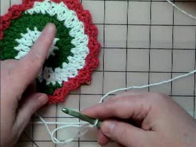 Easy Video Crochet Pinwheel Christmas Coasters - Part 1
