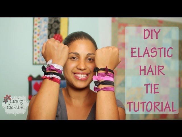 Elastic Hair Ties- DIY Tutorial-NO SEW