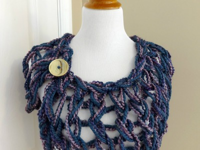 Episode 54 : How to Make the Arm Knit Button Wrap
