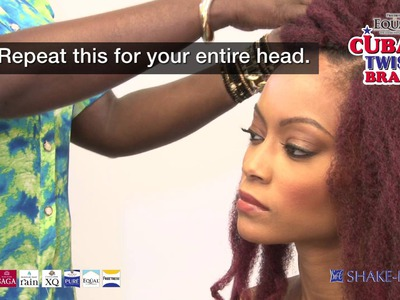 EQUAL CUBAN TWIST: How to crochet install and curl