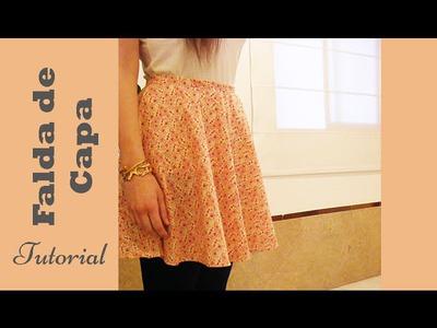Falda de capa: tutorial paso a paso para hacerla. DIY COSTURA