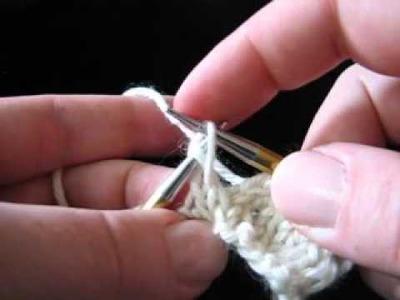 Fixing a Dropped Knit Stitch