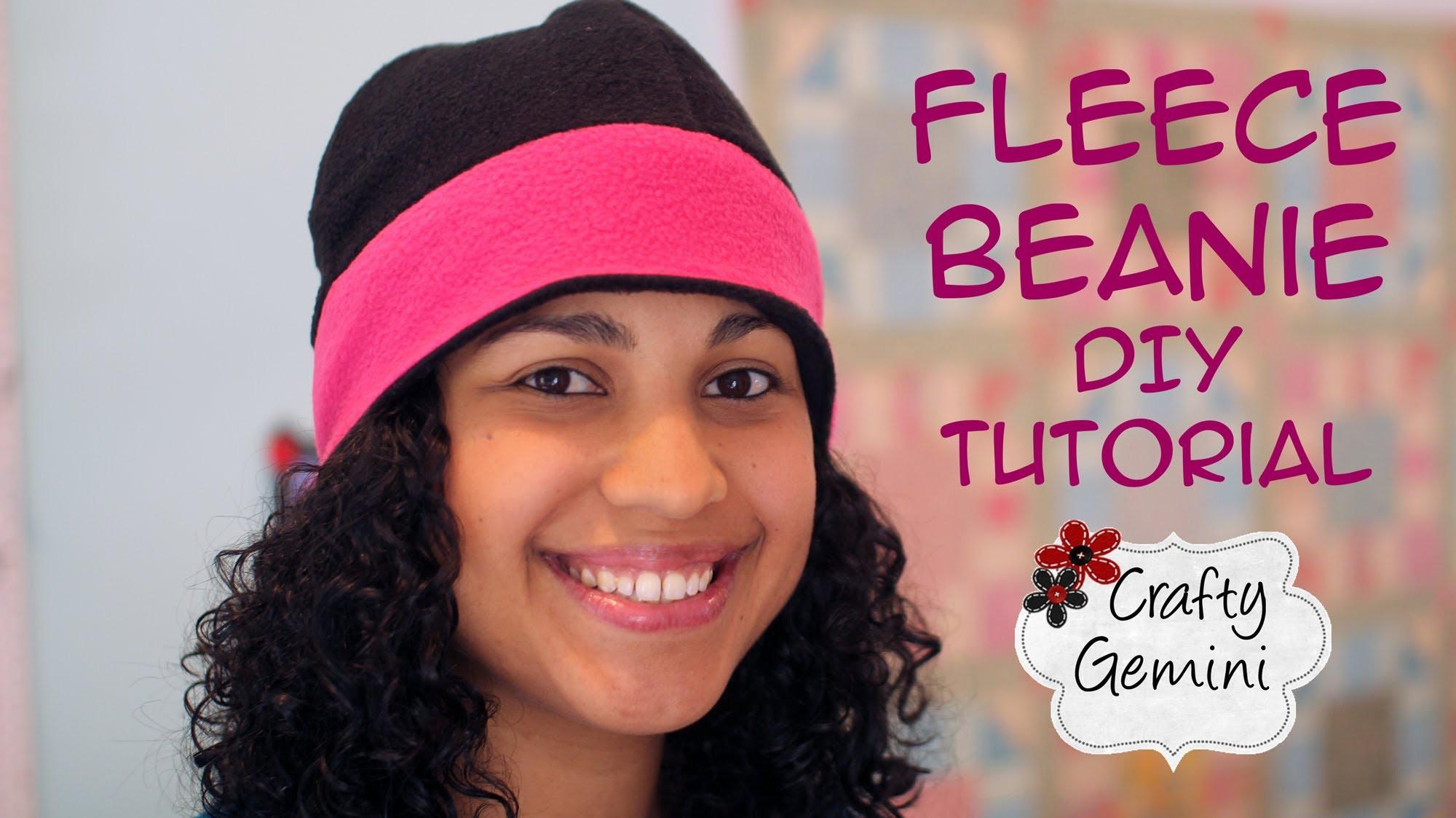 Fleece Beanie Hat- DIY Tutorial
