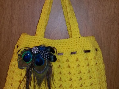 Fun Idea for DIY Crochet  #handbag lovely purse #Tutorial Handmade crochet bag Craft Idea