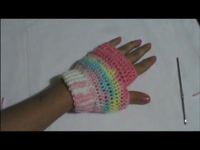 Guante sin Dedos En Crochet