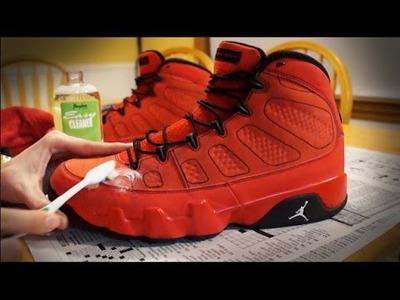 How to Clean and Restore Suede Jordan's! DIY Tutorial!