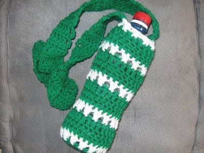 How to Crochet a Bottle Holder Tutorial