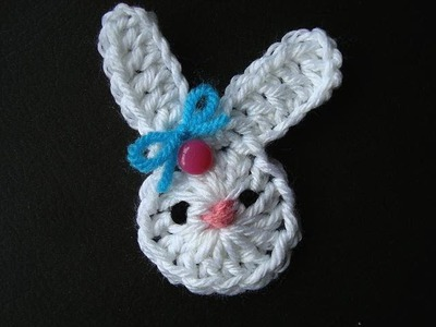 HOW TO CROCHET A BUNNY APPLIQUE