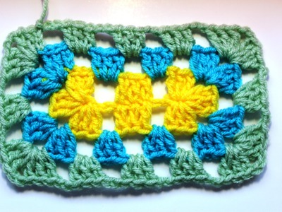 How to #Crochet a granny Rectangle