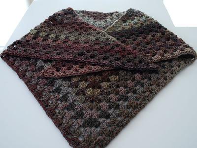How to Crochet a Granny Triangle Shawl