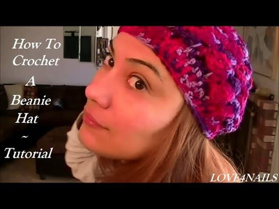 How to Crochet Beanie Hat ~ Set to the Rose Scarf Tutorial