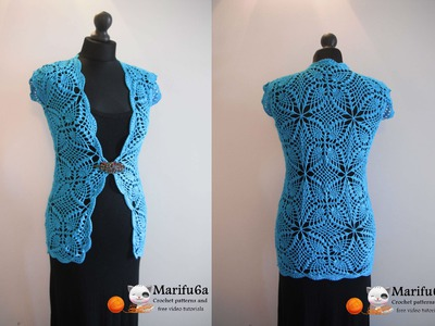 How to crochet cardigan jacket free pattern tutorial by marifu6a