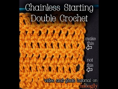 How to Crochet: Chainless Starting Double Crochet