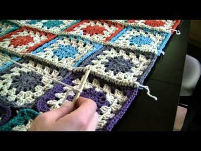 How To Crochet Color Burst Afghan Part 3